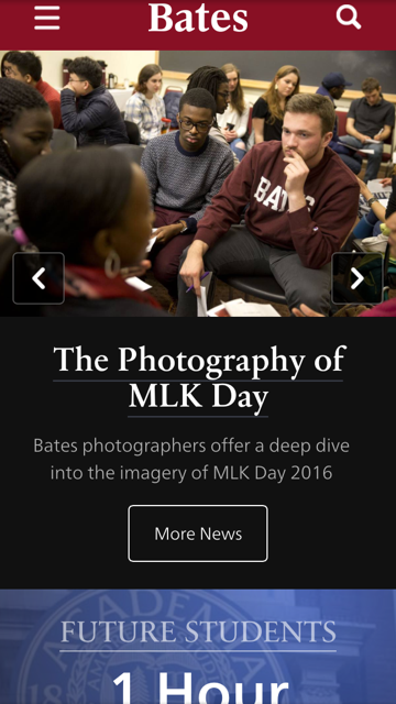 Bates College Home Page